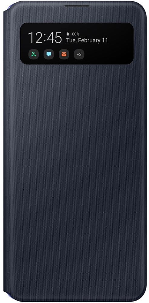 Картинка - S View Wallet Cover для Galaxy A41 черный