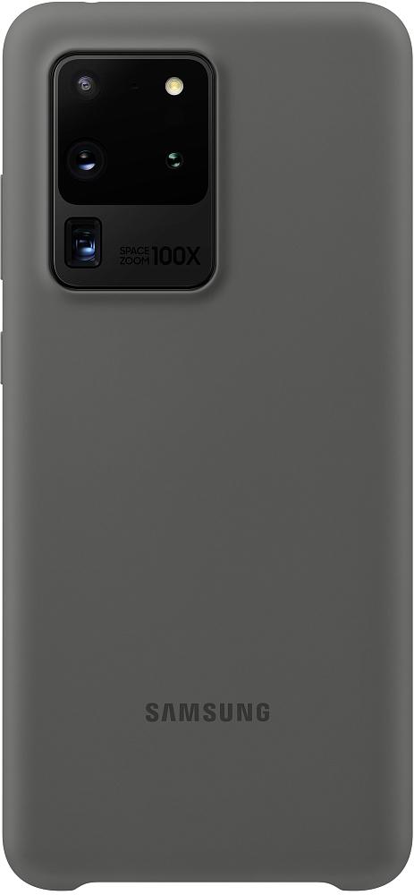 Картинка - Silicone Cover Galaxy S20 Ultra серый