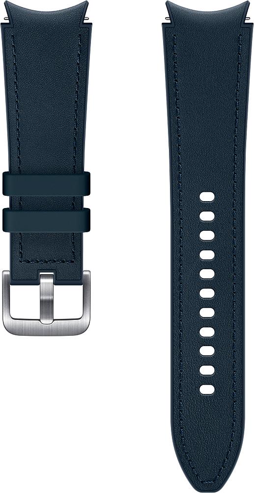 Ремешок Samsung Hybrid Leather Band для Galaxy Watch4 | Watch3, 20 мм, M/L синий