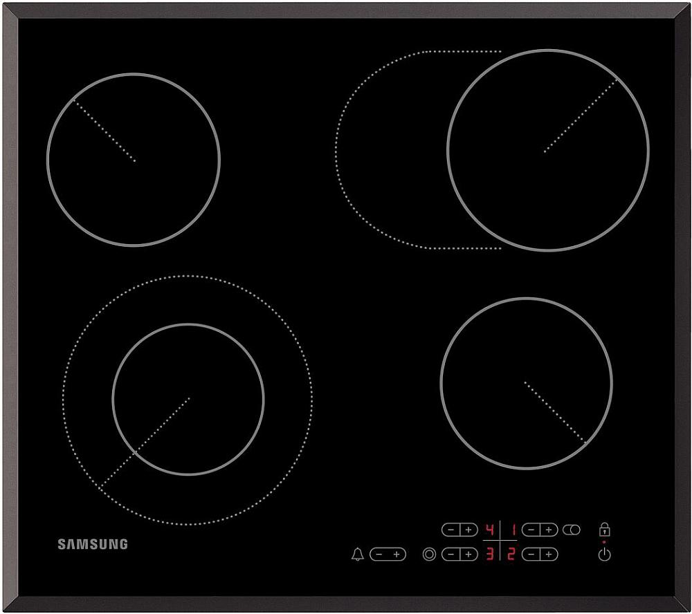Электрическая варочная поверхность Samsung NZ64T3516BK/WT черный