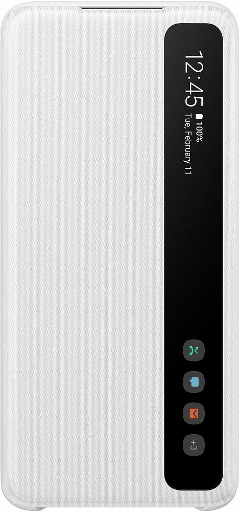 Картинка - Clear View Cover для Galaxy S20 белый