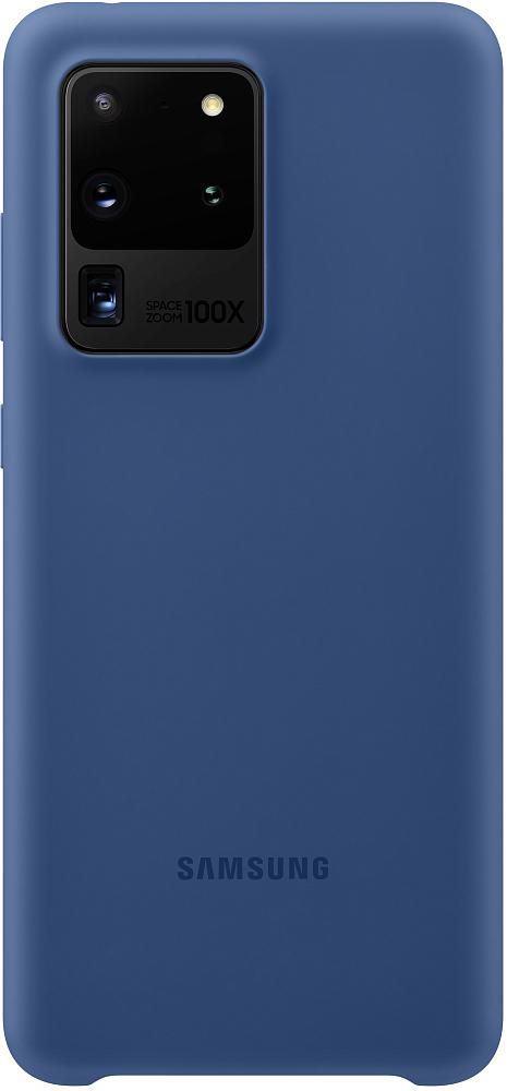 Чехол Samsung Silicone Cover Galaxy S20 Ultra темно-синий