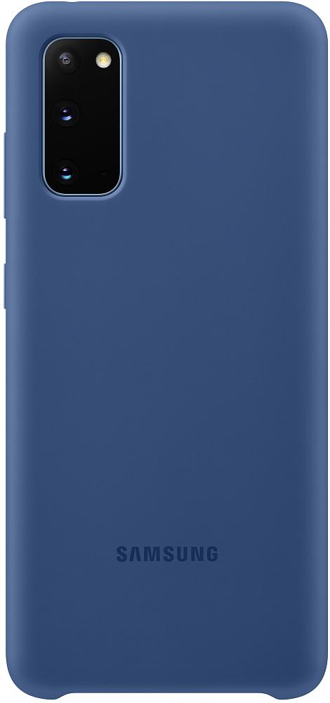 Чехол Samsung Silicone Cover Galaxy S20 темно-синий