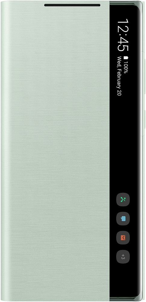 Картинка - Smart Clear View Cover для Galaxy Note20 мятный