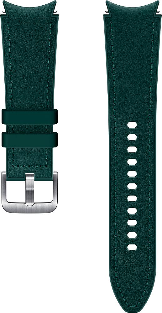 Ремешок Samsung Hybrid Leather Band для Galaxy Watch4   Watch3, 20 мм, M/L зеленый