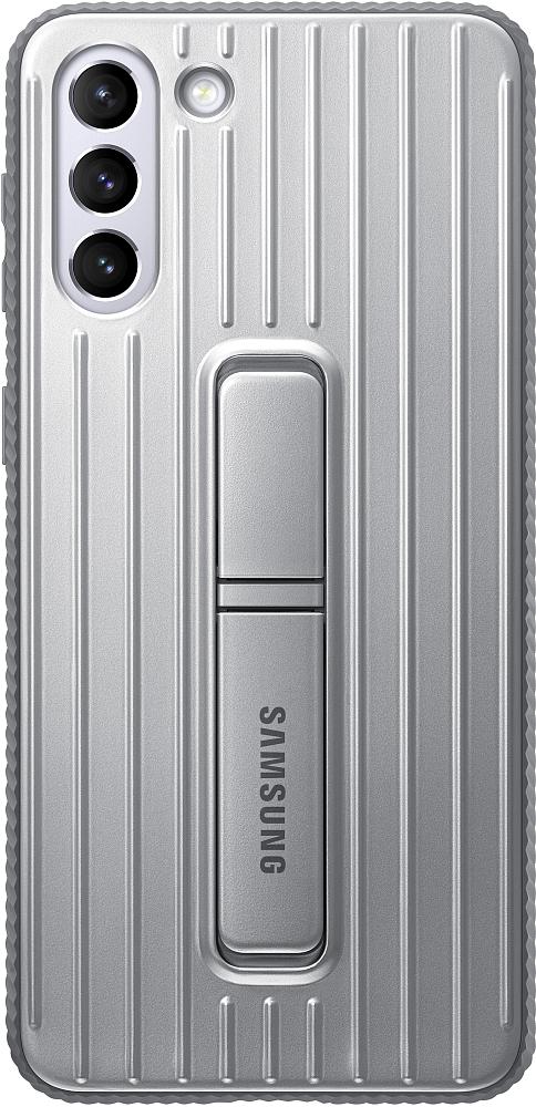 Картинка - Protective Standing Cover для Galaxy S21+ серый