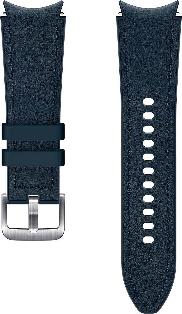 Ремешок Samsung Hybrid Leather Band для Galaxy Watch4 | Watch3, 20 мм, S/M синий