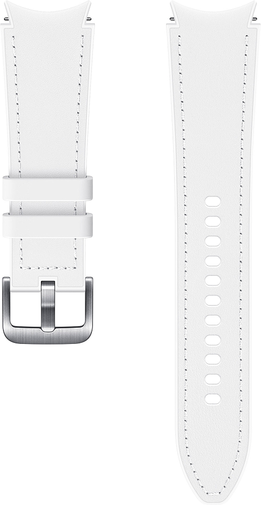 Ремешок Samsung Hybrid Leather Band для Galaxy Watch4 | Watch3, 20 мм, M/L белый