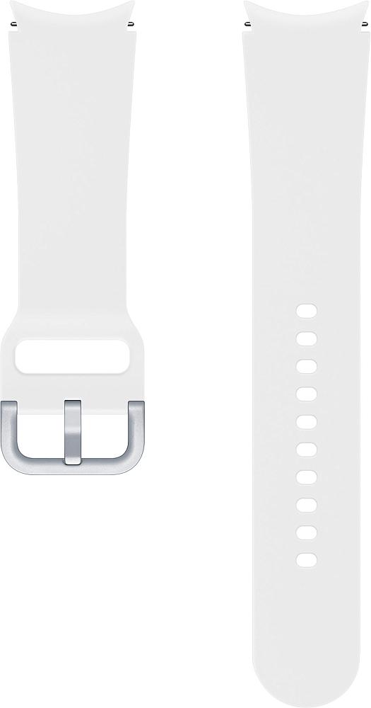 Ремешок Samsung Sport Band для Galaxy Watch4   Watch3, 20 мм, M/L белый