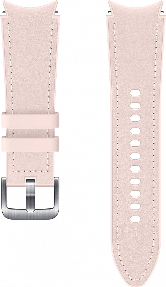 Ремешок Samsung Hybrid Leather Band для Galaxy Watch4 | Watch3, 20 мм, S/M розовый