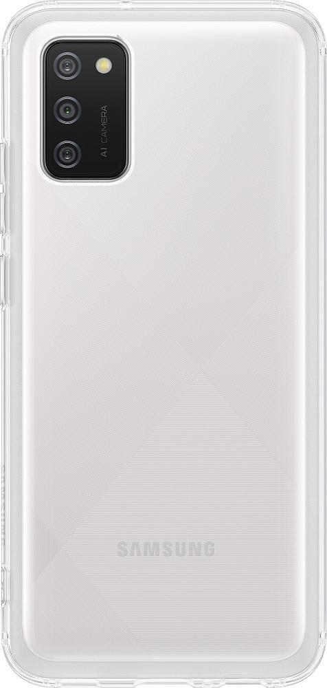 Чехол Samsung Soft Clear Cover для Galaxy A02s белый