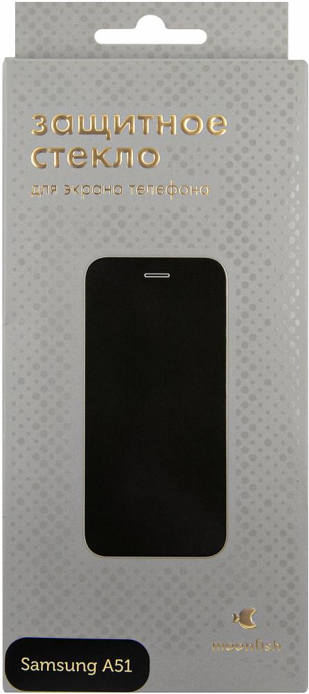 Защитное стекло moonfish Full Screen FULL GLUE для Galaxy A51 черный