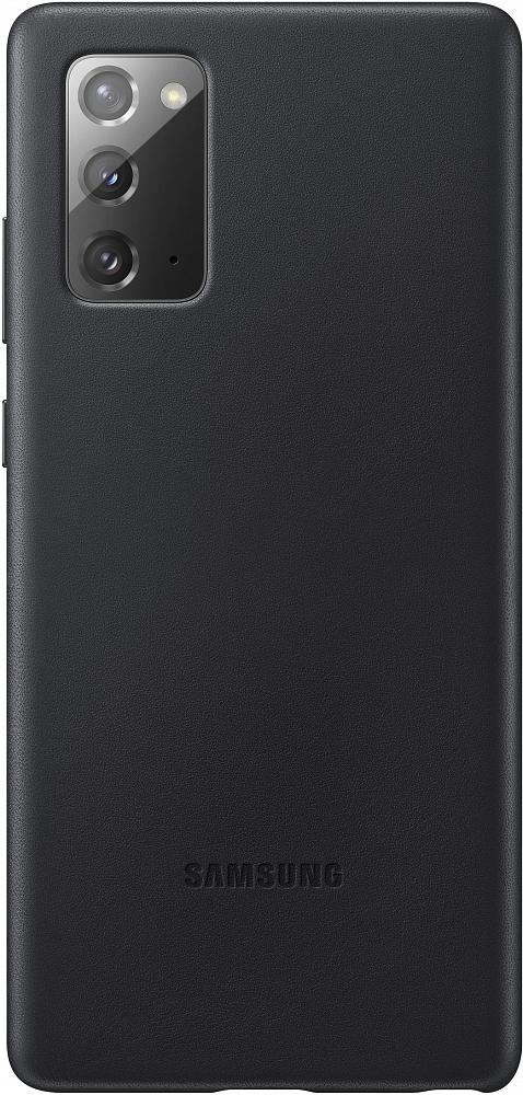 Картинка - Leather Cover для Galaxy Note20 черный