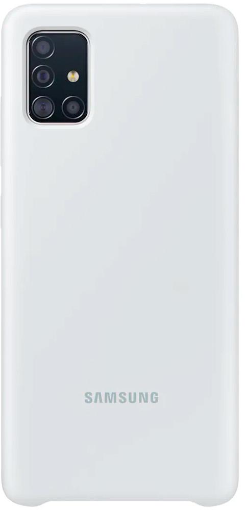 Картинка - Silicone Cover для Galaxy A51 белый