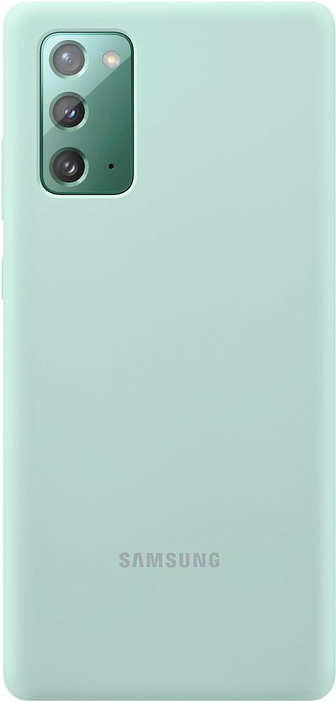 Чехол Samsung Silicone Cover для Galaxy Note20 мятный